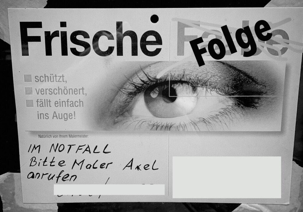 Frische Folge (Im Notfalll: Maler Axel hilft)