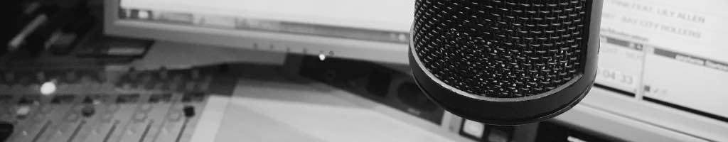Blick in ein Hörfunkstudio